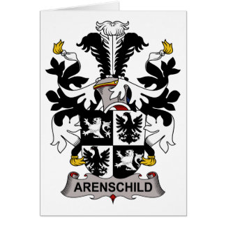 Arenschild Family Crest Card