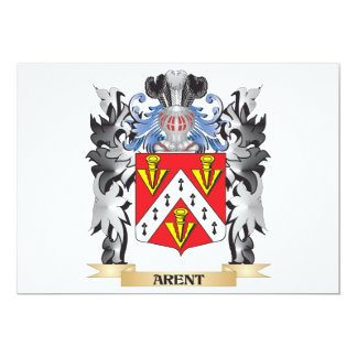 Arent Coat of Arms - Family Crest 5x7 Paper Invitation Card