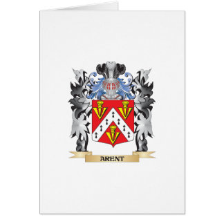 Arent Coat of Arms - Family Crest Greeting Card