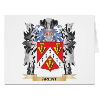 Arent Coat of Arms - Family Crest Large Greeting Card