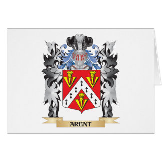 Arent Coat of Arms - Family Crest Stationery Note Card