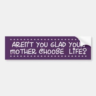 Aren't You Glad Car Bumper Sticker