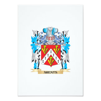 Arents Coat Of Arms 5x7 Paper Invitation Card