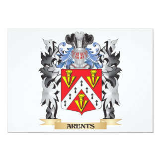 Arents Coat of Arms - Family Crest 5x7 Paper Invitation Card