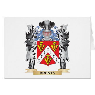 Arents Coat of Arms - Family Crest Stationery Note Card