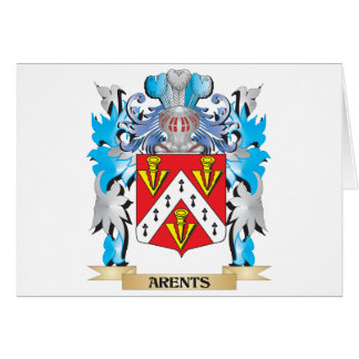 Arents Coat Of Arms Greeting Card