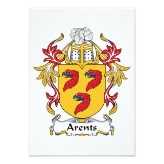 Arents Family Crest 5x7 Paper Invitation Card