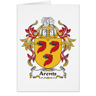 Arents Family Crest Greeting Card