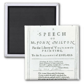 Areopagitica'  a speech of John Milton Magnet
