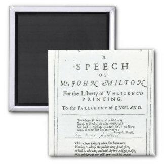Areopagitica'  a speech of John Milton Magnets