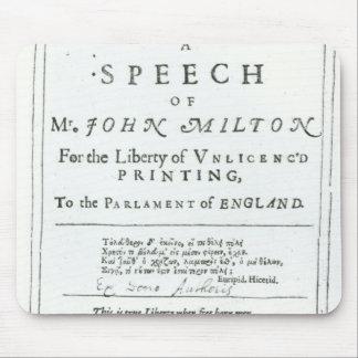 Areopagitica'  a speech of John Milton Mouse Pad