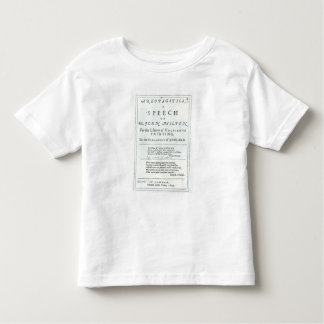 Areopagitica'  a speech of John Milton Toddler T-shirt
