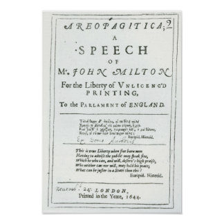 Areopagitica un discurso de John Milton Poster