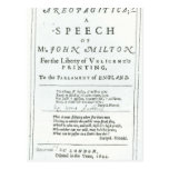Areopagitica un discurso de John Milton Tarjeta Postal