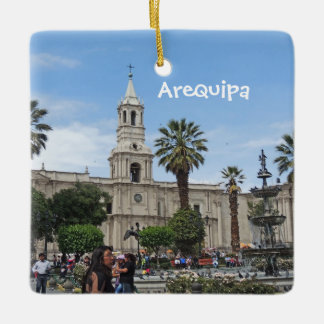 Arequipa - Plaza de Armas Ceramic Ornament