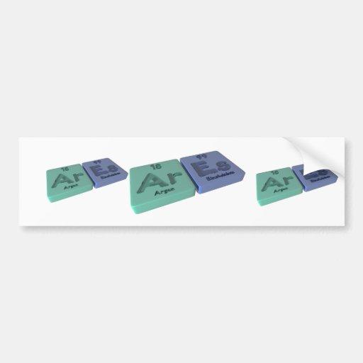 Ares as Ar Argon and Es Einsteinium Bumper Sticker