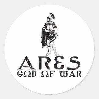Ares Classic Round Sticker