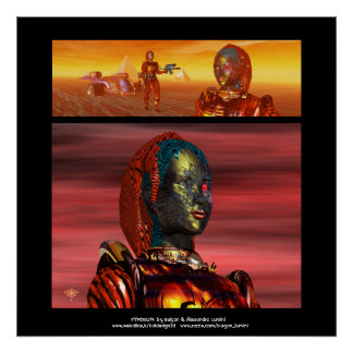 ARES CYBORG,DESERT HYPERION SCIENCE FICTION Scifi Poster