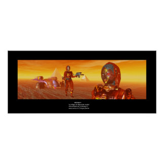 ARES CYBORG,DESERT HYPERION,SCIENCE FICTION Scifi Poster