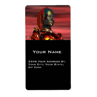 ARES , Cyborg from Hyperion Personalized Shipping Label