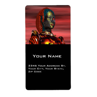 ARES , Cyborg from Hyperion Custom Shipping Label