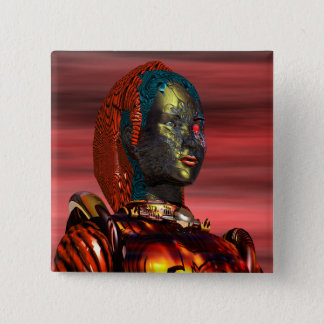 ARES - CYBORG PINBACK BUTTON