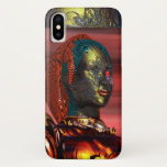 ARES /CYBORG PORTRAIT IN SUNSET Science Fiction iPhone X Case