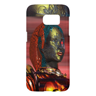 ARES /CYBORG PORTRAIT IN SUNSET Science Fiction Samsung Galaxy S7 Case