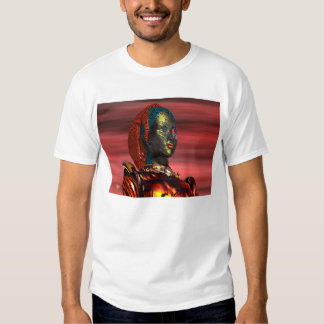 ARES - CYBORG PORTRAIT IN SUNSET TEE SHIRT