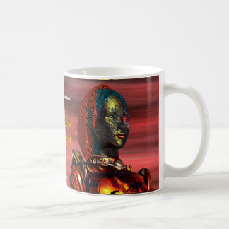 ARES CYBORG PORTRAIT Red Science Fiction Sci-Fi Coffee Mug