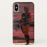 ARES CYBORG,RED SUNSET Science Fiction,Sci-Fi iPhone X Case
