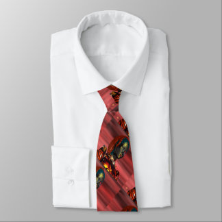 ARES CYBORG,RED SUNSET Science Fiction,Sci-Fi Neck Tie