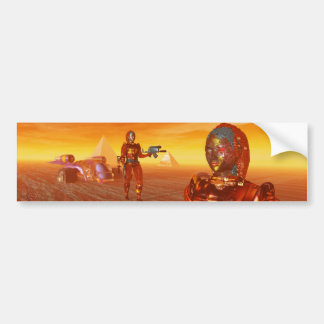 ARES IN THE DESERT OF HYPERION CAR BUMPER STICKER