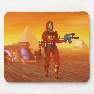 ARES IN THE DESERT OF HYPERION MOUSE PAD
