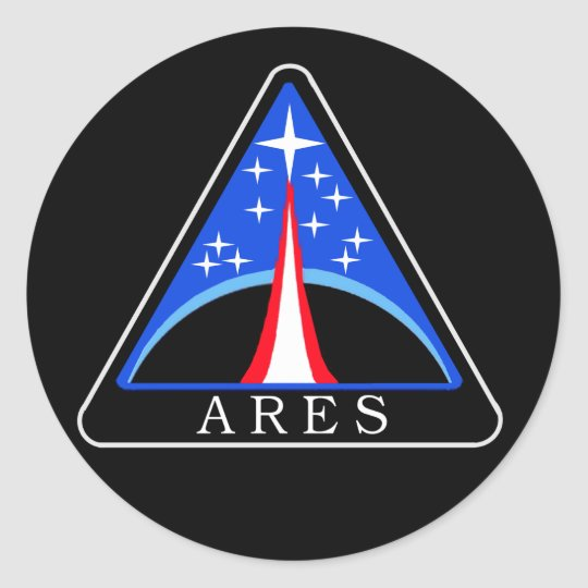 Ares Launch Vehicle Classic Round Sticker