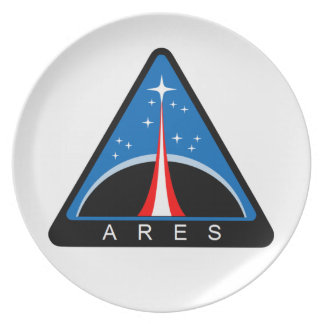 Ares Launch Vehicle Dinner Plate