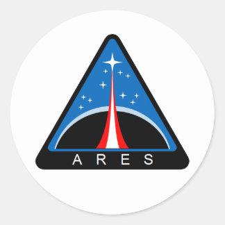 Ares Launch Vehicle Round Sticker