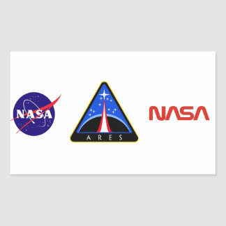 Ares Launch Vehicle Rectangle Stickers