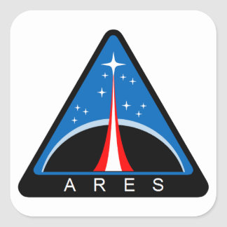 Ares Launch Vehicle Square Stickers