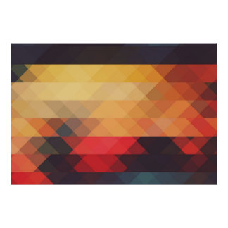 Ares Modern Geometric Pattern. Poster