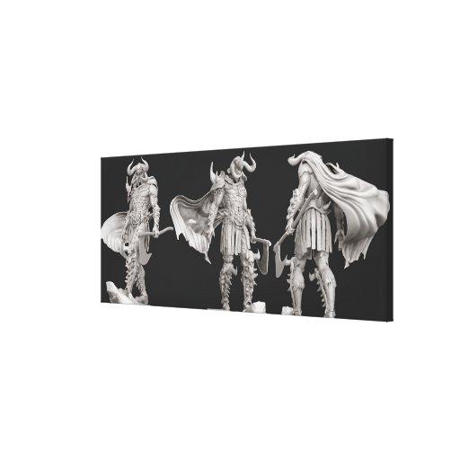 Ares Turnaround Canvas Print