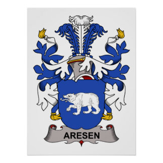 Aresen Family Crest Posters