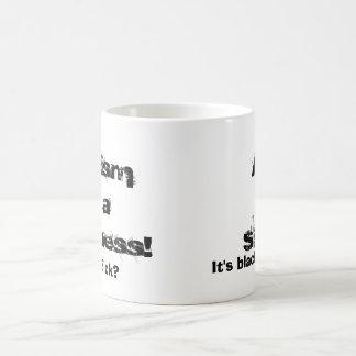 AreUSick?, It's black an white., com, Racismis ... Classic White Coffee Mug