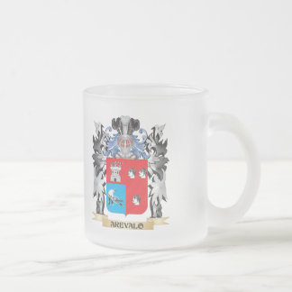 Arevalo Coat of Arms - Family Crest 10 Oz Frosted Glass Coffee Mug