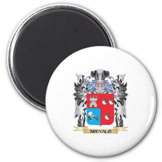 Arevalo Coat of Arms - Family Crest 2 Inch Round Magnet