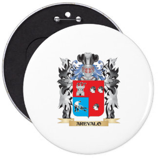Arevalo Coat of Arms - Family Crest 6 Inch Round Button