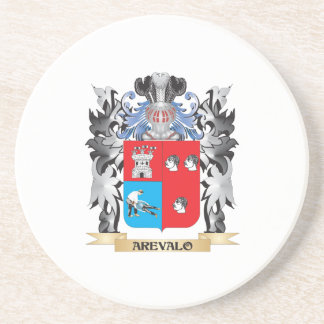 Arevalo Coat of Arms - Family Crest Beverage Coasters