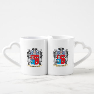 Arevalo Coat of Arms - Family Crest Couples' Coffee Mug Set