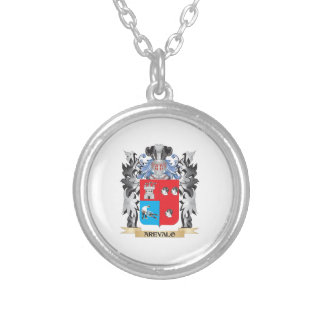 Arevalo Coat of Arms - Family Crest Round Pendant Necklace