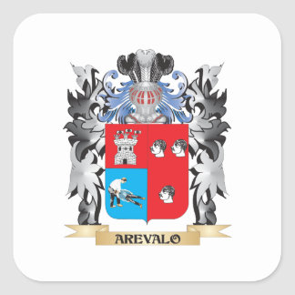 Arevalo Coat of Arms - Family Crest Square Sticker